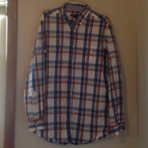 Men's Cremieux Plaid Button Down Shirt Sz. M